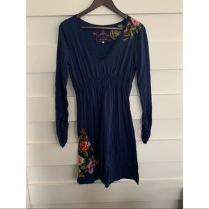 (NWOT)JW- Blue Long Sleeve Midi Dress
